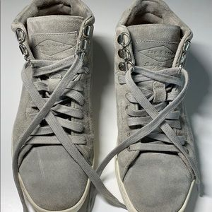 Rag and Bone gray suede high top Sneakers 5.5